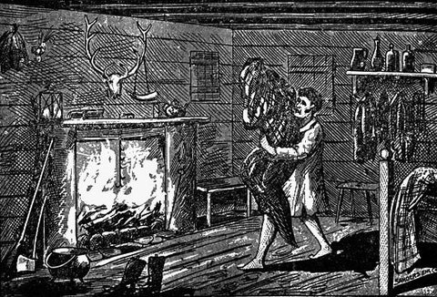 1894 illustration of William Porter attempting to Burn the Bell Witch
