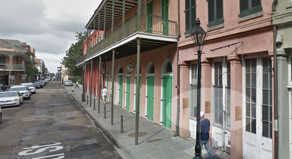 Google street view image of 527 Conti Street in the New Orleans French Quarter