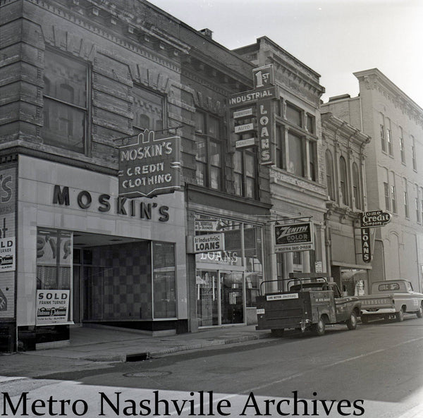 This undated photograph shows the building, probably in the 1960s, when it was a lender. Photo courtesy of the Metro Nashville Archive Facebook page,