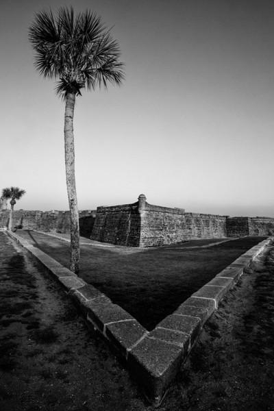 The old Spanish fort Castillo de San Marcos in St. Augustine. Buy a fine art print.