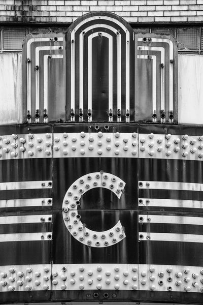 Vintage theater marquee, a black and white photograph by Keith Dotson. Buy a fine art black and white print.