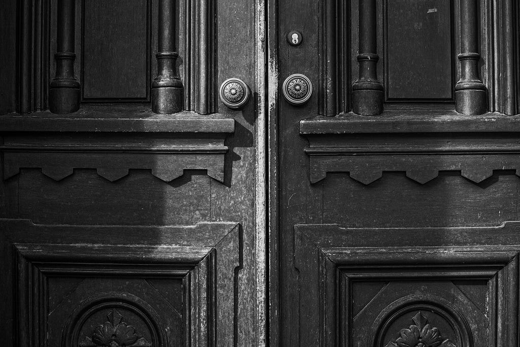 Wooden Doors to Jubilee Hall at Fisk University in Nashville. Click the photo to buy a print.
