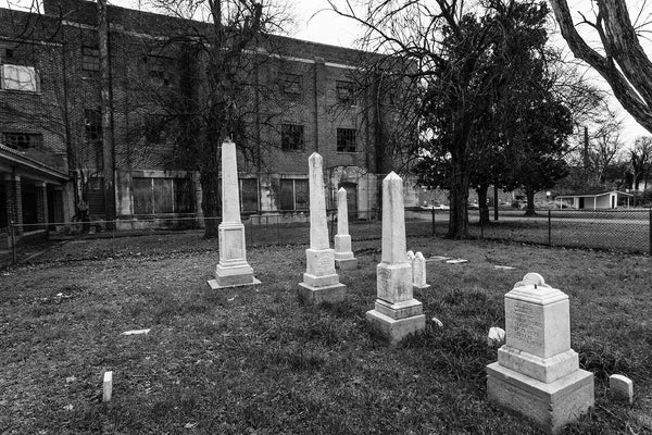 Bobo Cemetery at the old Clarksdale High School, in Clarksdale, Mississippi