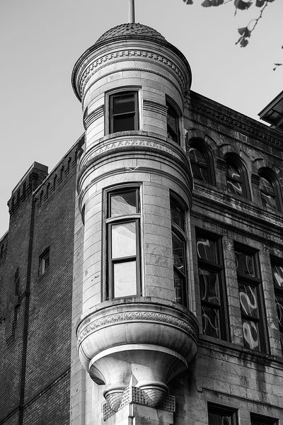 Southern Turf Building in Nashville (A0022577), black and white photograph by Keith Dotson. Click to buy a fine art print.