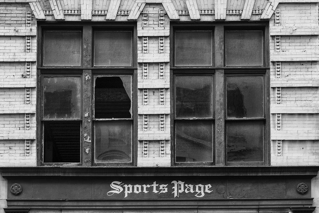 Abandoned Nashville Store Front 'The Sports Page' and BW Graves Co. Buy a print here.