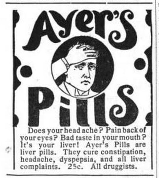 Print ad for Ayer's Pills