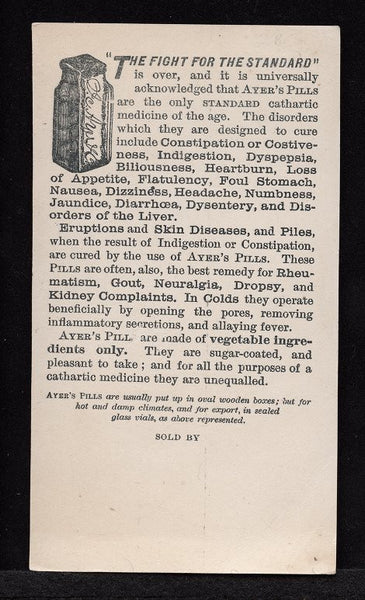 Ad for Ayer's Pills courtesy of East Carolina University Digital Collections