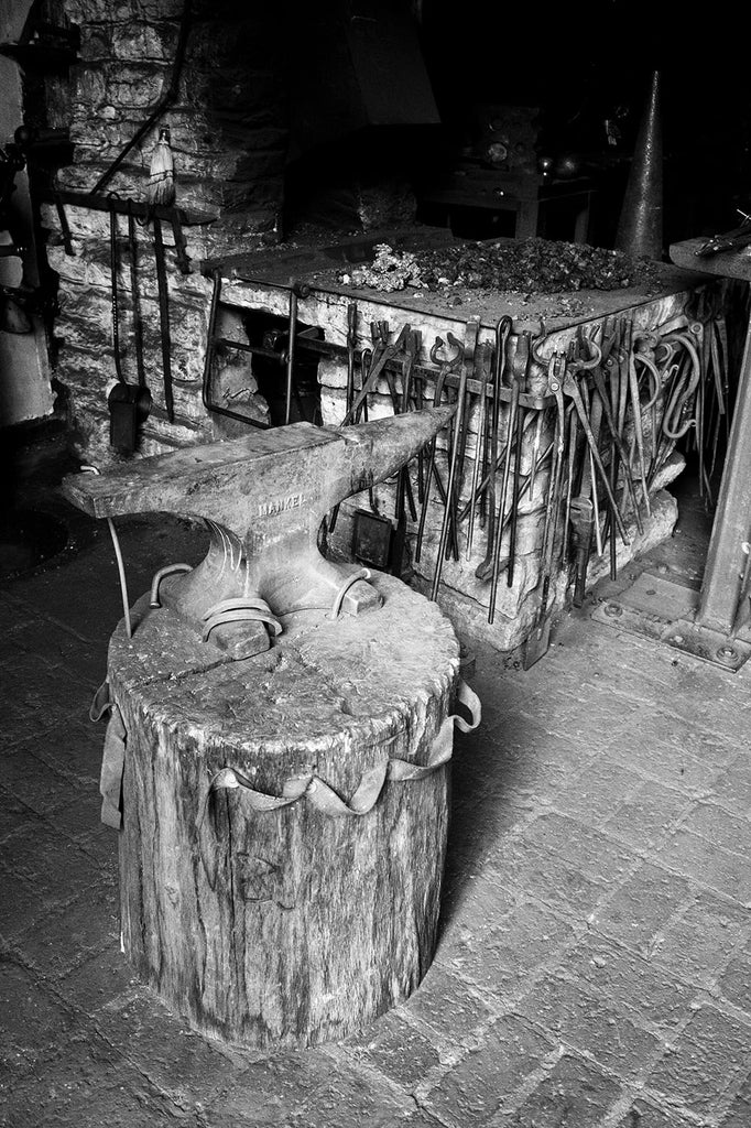 Fine Art Photograph of an Anvil in a Blacksmith Shop. Buy a fine art print here.