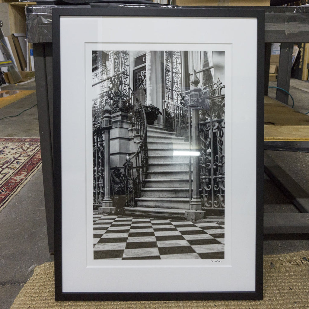 The Rutledge House in Charleston, built late 1700s. Photograph by Keith Dotson, framing by Blue Door Framing in Nashville.