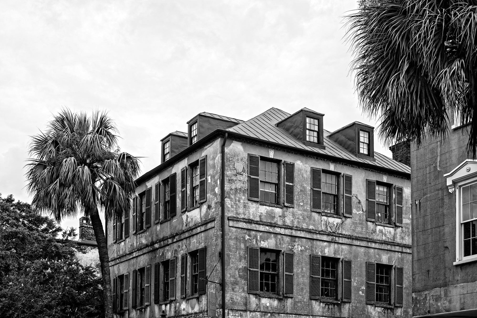 Charleston Historic Architecture - Black and White Photograph by Keith Dotson. Buy a print.