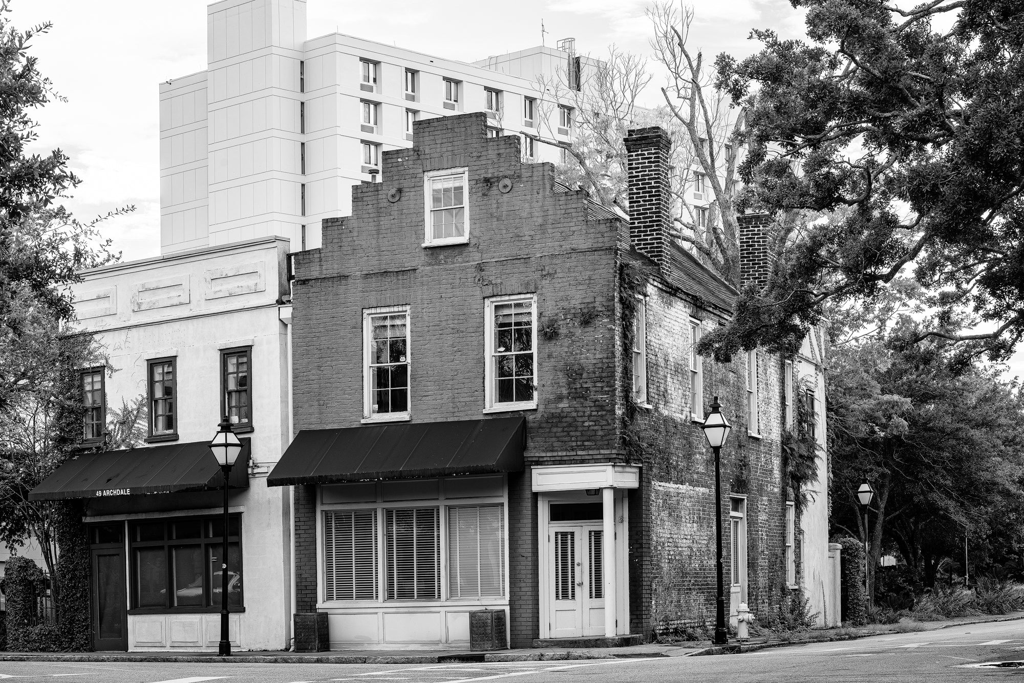Charleston Archdale at Beaufain - Black and White Photograph by Keith Dotson. Click to buy a fine art print.