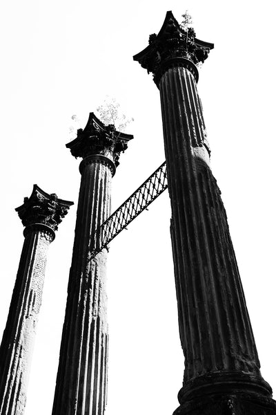 Windsor Ruins, black and white photograph by Keith Dotson.