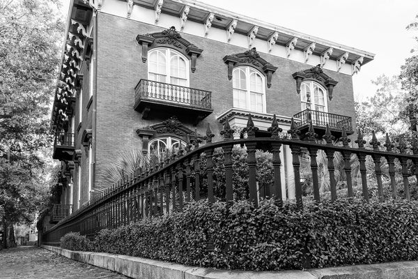 Savannah's Historic Mercer-Williams House - Black and White Photograph by Keith Dotson