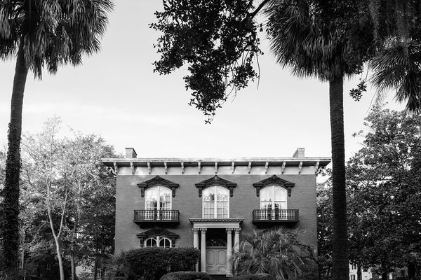 Mercer-Williams House in Savannah - Black and White Photograph