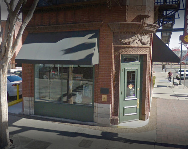 Google Street View image of 100 Broadway, former home of the Silver Dollar Saloon