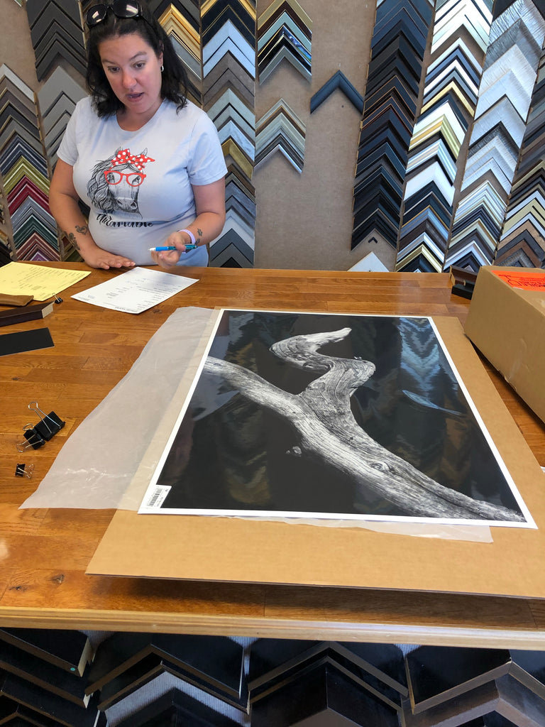 Dropping the prints at the frame shop