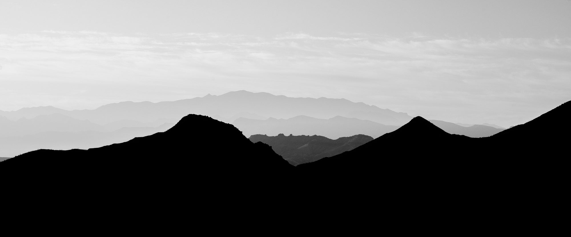 Mountain Sunrise. Black and White Photograph by Keith Dotson. Click to buy a fine art print.