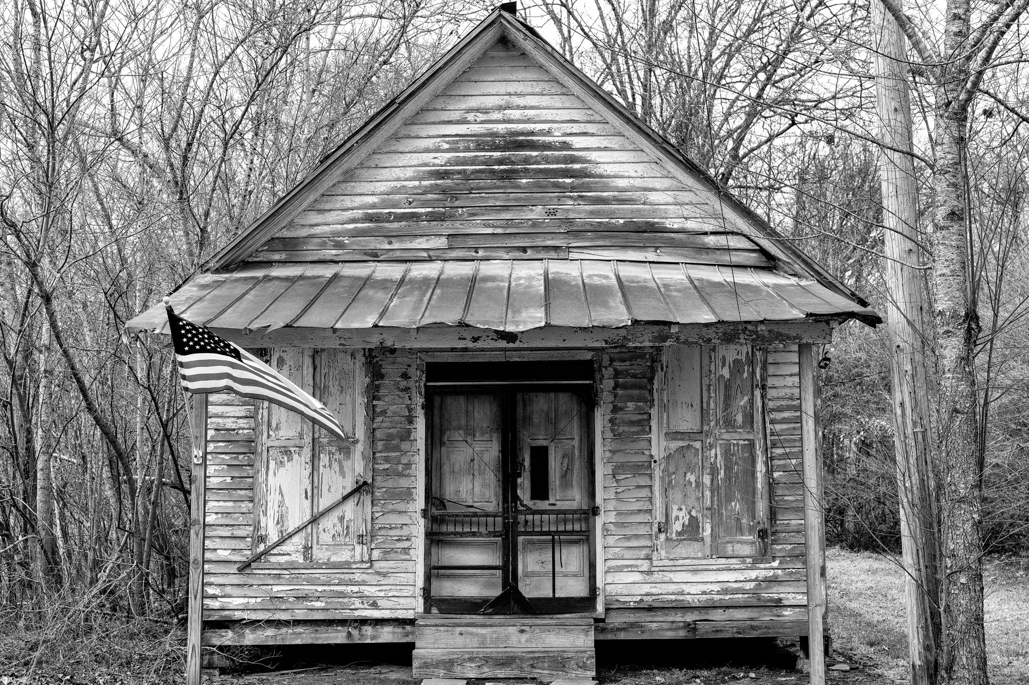 Front of an Abandoned Mercantile Store: Black and White Photograph by Keith Dotson. Click to buy a fine art print.