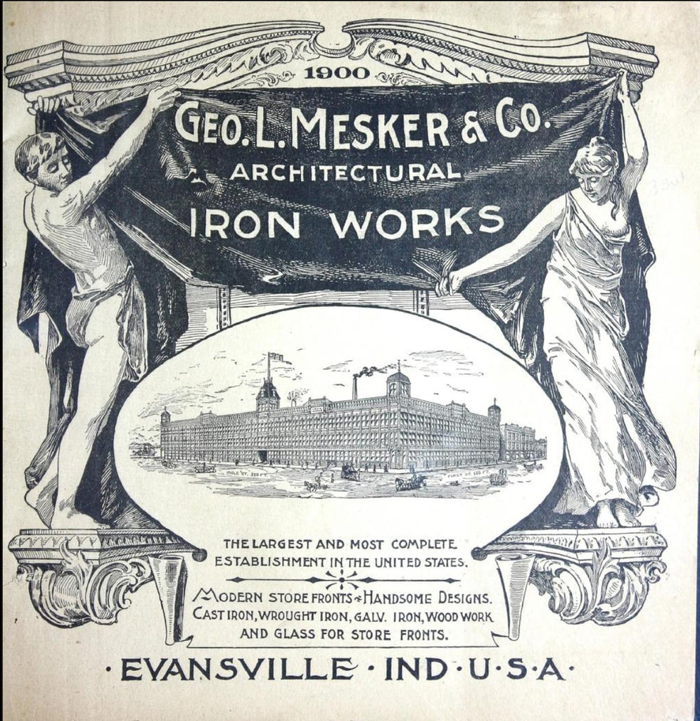 Cover of the 1900 catalog from Geo. L Mesker and Company Architectural Iron Works, courtesy of Archive.org