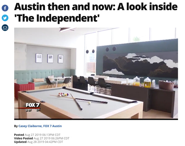 Austin then and now: A look inside The Independent, broadcast on Austin's Fox 7 news