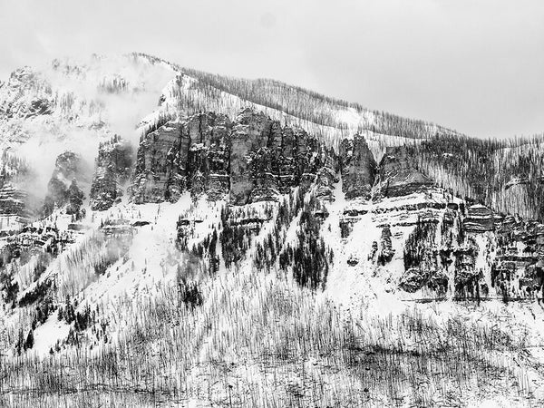 Landscape Photograph of Wyoming's Beartooth Mountains in Winter, by Keith Dotson. Buy a print.