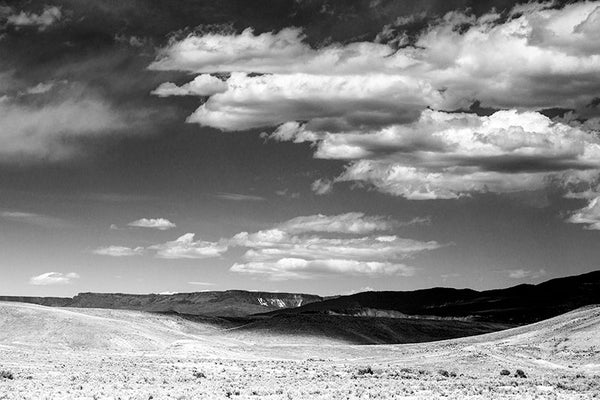 Colorado Vista with Cloud Shadows, a black and white photograph by Keith Dotson