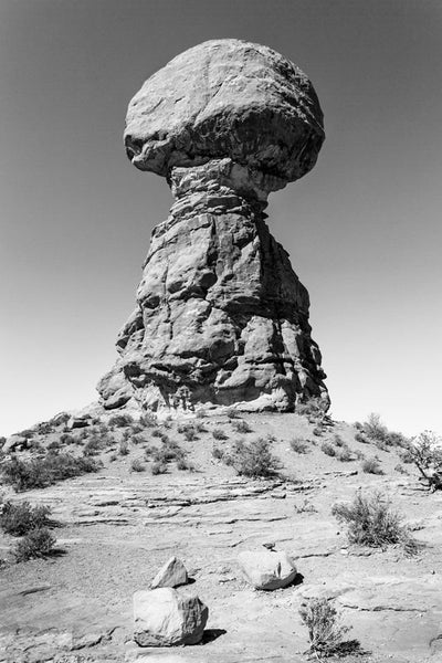 Stone Tower with a Balanced Rock, Utah landscape photograph by Keith Dotson. Buy a print.