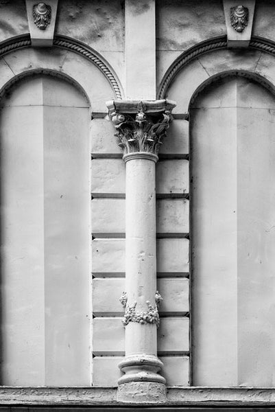 White Column on the Historic Climax Saloon, Downtown Nashville, and architectural detail photograph by Keith Dotson. Buy a print.
