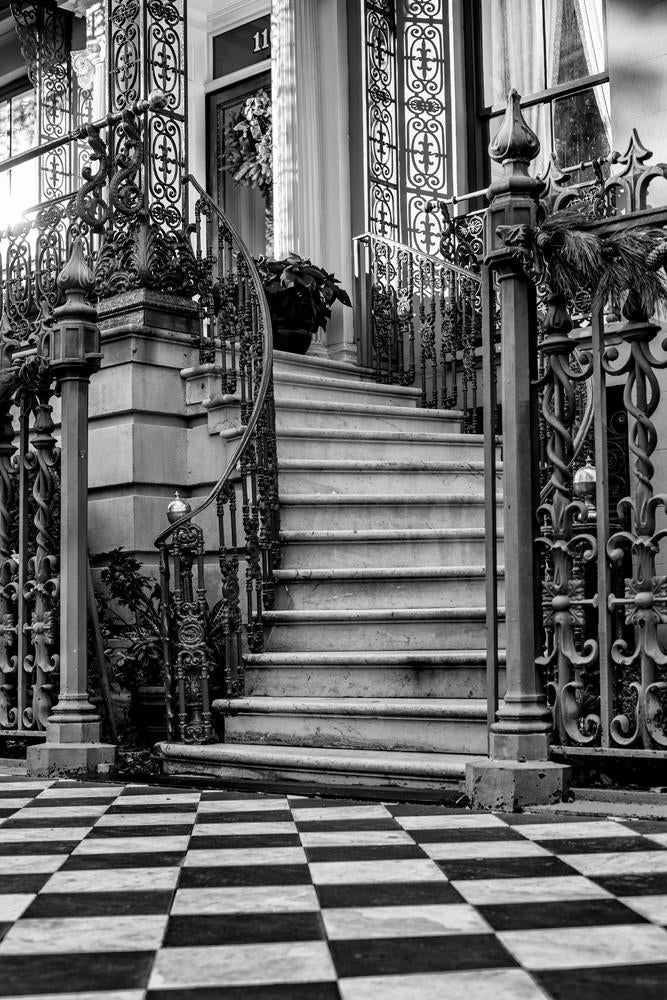 Black and white fine art photograph of the John Rutledge House in Charleston by Keith Dotson