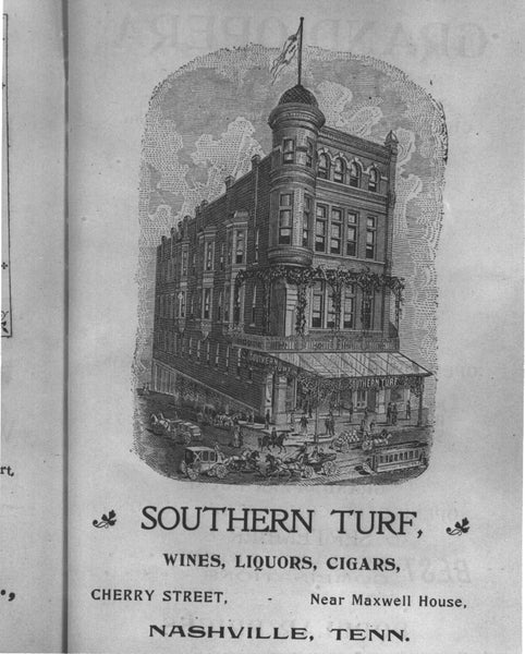 Vintage ad for The Southern Turf