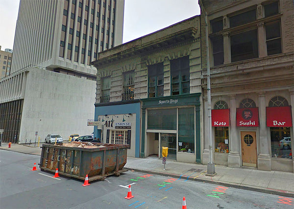 Google street view image shows 419 Union Street in 2016, after being vacated by the Sports Page bar and grill.