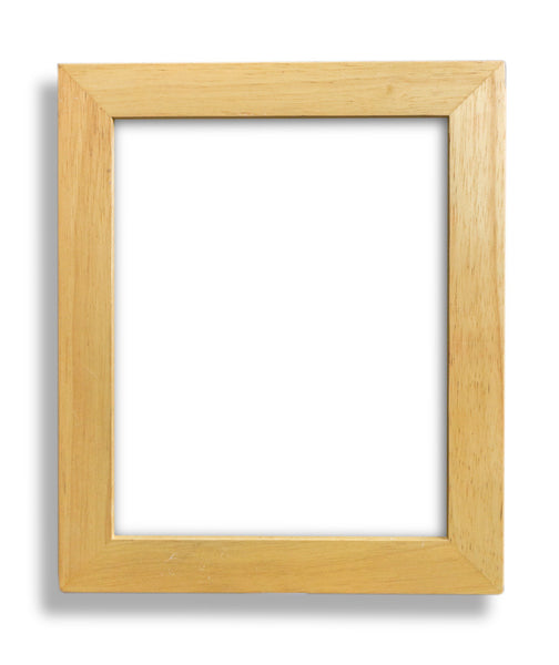 "Light Wood Frame with Glass for 8"" x 10"" art"
