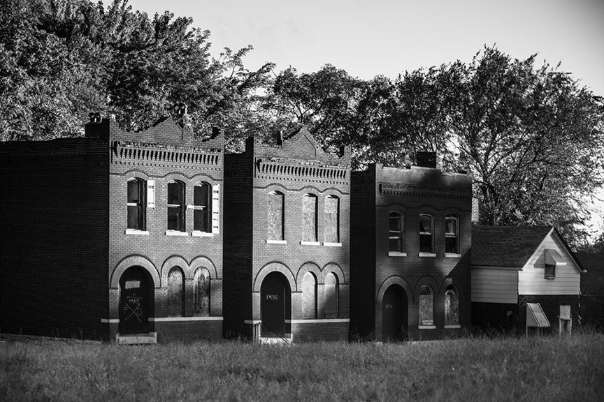 Abandoned Row Houses in College Hill, St. Louis (A0008419)
