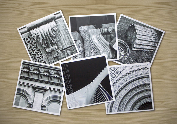Architectural Elements, Set of Six Themed Photographs on Card Stock, PhotoSquares