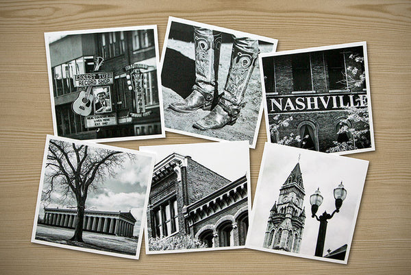 Nashville, Set of Six Themed Photographs on Card Stock, PhotoSquares
