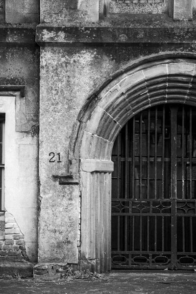Black and white photograph of the old Charleston County Jail, built in 1802 and in service until 1939.