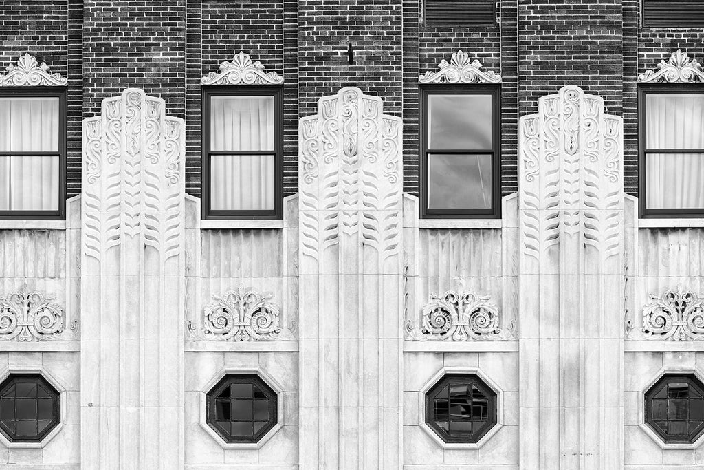 Black and White Architectural Photograph of a Nashville Art Deco Hotel Built 1929