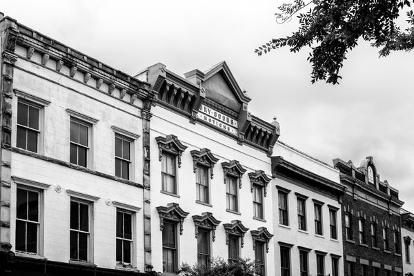 Charleston Architectural Detail Charleston SC Black and White Photograph Architecture Female Face on a Building Meeting St Charleston