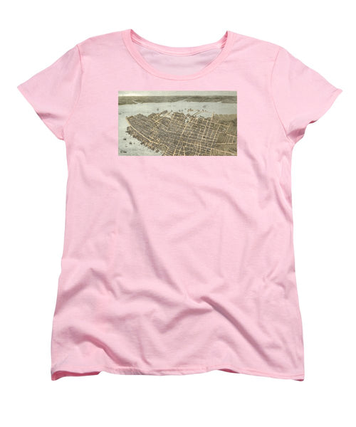 Birds Eye View Of Charleston 1872 - Women's T-Shirt (Standard Fit)