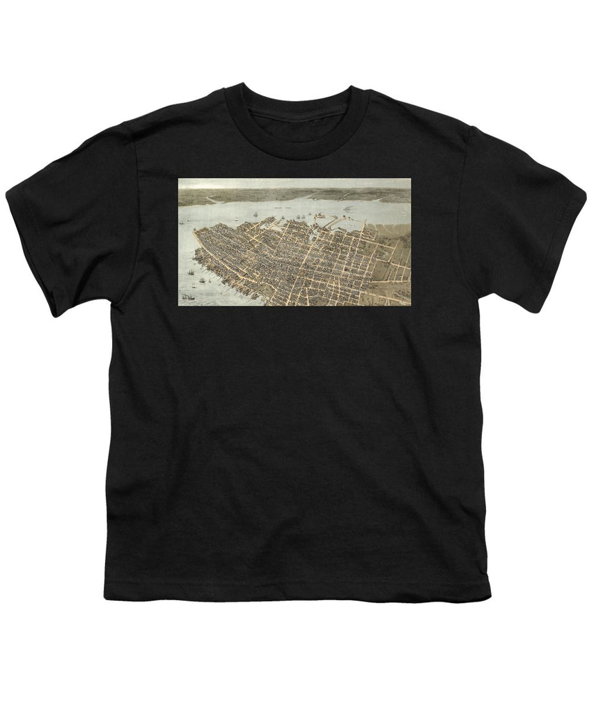Birds Eye View Of Charleston 1872 - Youth T-Shirt