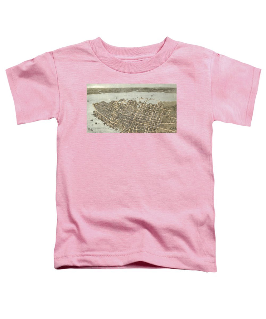 Birds Eye View Of Charleston 1872 - Toddler T-Shirt
