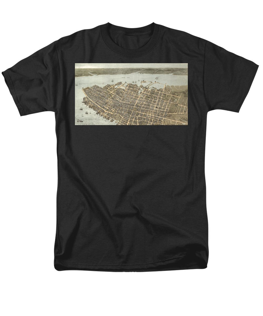 Birds Eye View Of Charleston 1872 - Men's T-Shirt  (Regular Fit)