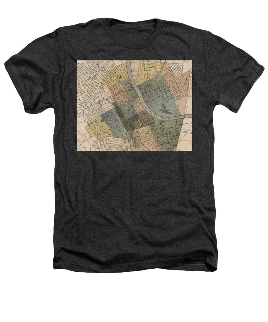 Map Of Nashville 1880s  - Heathers T-Shirt