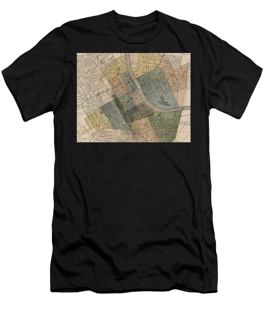 Map Of Nashville 1880s  - Men's T-Shirt (Athletic Fit)