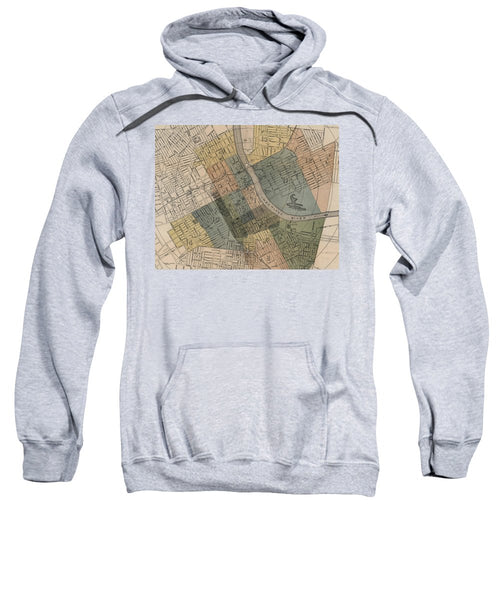 Map Of Nashville 1880s  - Sweatshirt