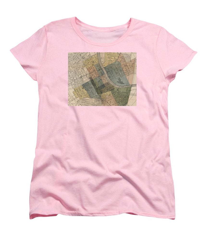 Map Of Nashville 1880s  - Women's T-Shirt (Standard Fit)