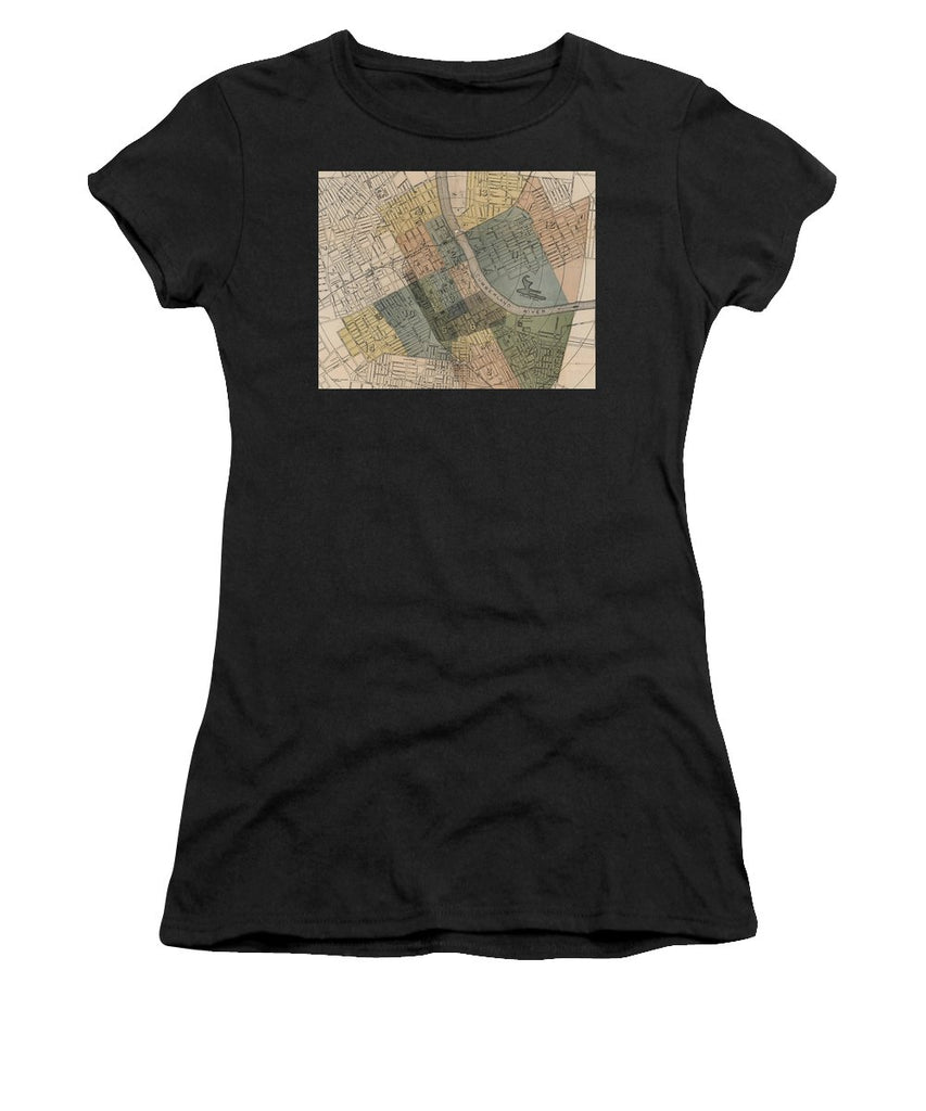 Map Of Nashville 1880s  - Women's T-Shirt