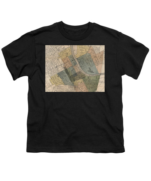Map Of Nashville 1880s  - Youth T-Shirt