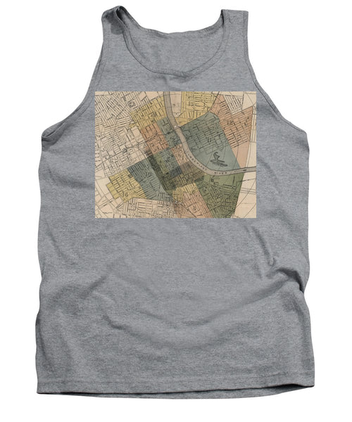Map Of Nashville 1880s  - Tank Top