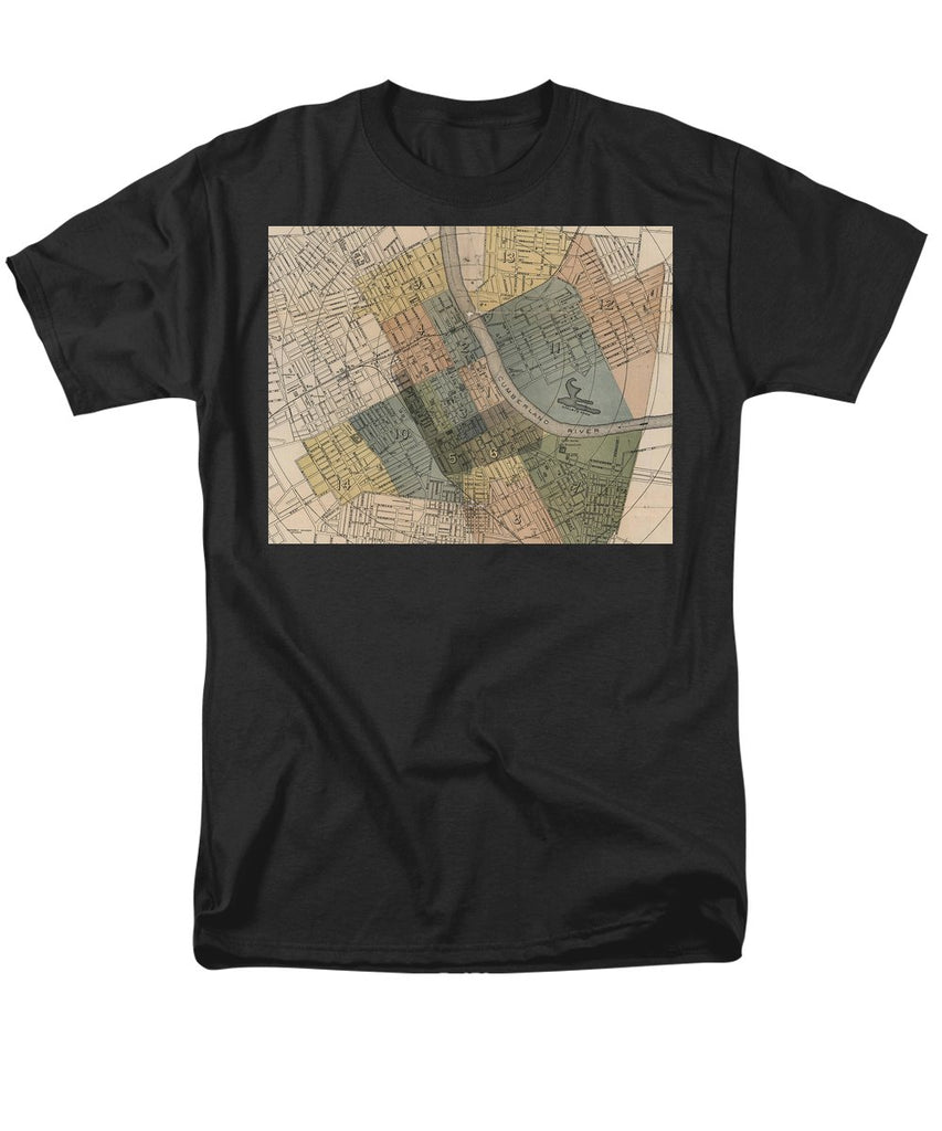 Map Of Nashville 1880s  - Men's T-Shirt  (Regular Fit)